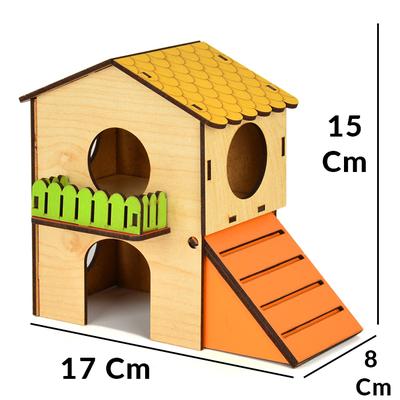 Flip Hamster Evi 2 Katlı Small - Thumbnail