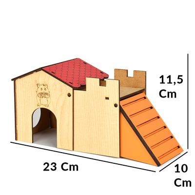 Flip Hamster Evi Tek Katlı - Thumbnail