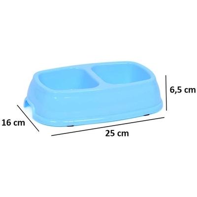 Flip İkili Mama Kabı 25 cm 10'lu - Thumbnail