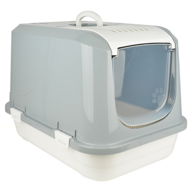Flip Kapalı Lüx Kedi Tuvaleti Büyük Üstten Açılır - Thumbnail