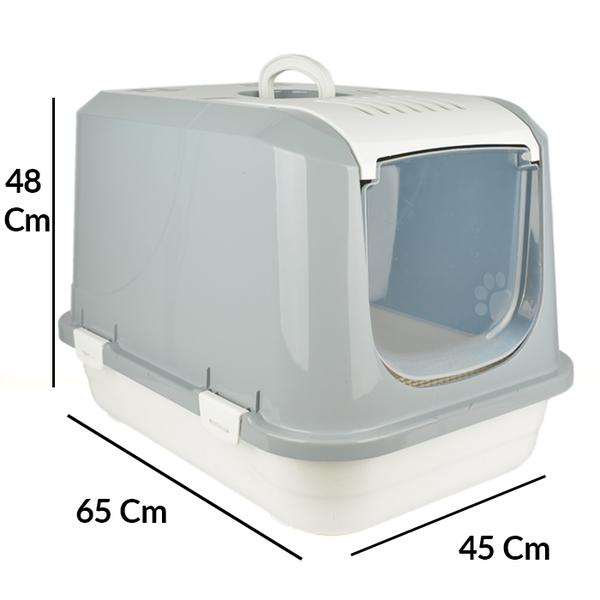 Flip Kapalı Lüx Kedi Tuvaleti Büyük Üstten Açılır