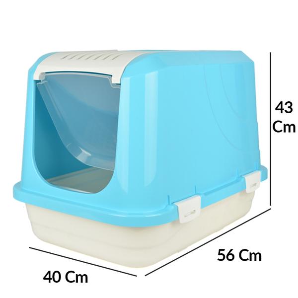 Flip Kapalı Lüx Kedi Tuvaleti Orta Üstten Açılır