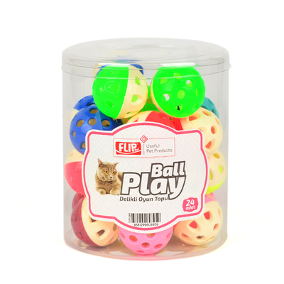 Flip Kedi Oyun Topu Delikli 24'lü - Thumbnail