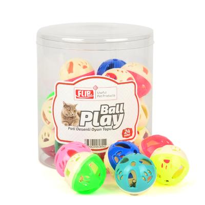 Flip - Flip Kedi Oyun Topu Pati Desenli 24'lü