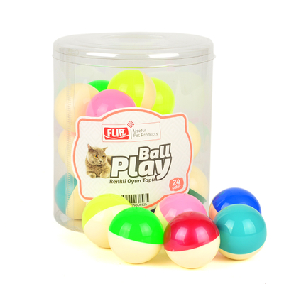 Flip - Flip Kedi Oyun Topu Renkli 24'lü