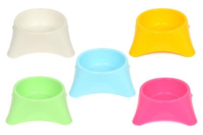 Flip Yuvarlak Mama Kabı Renkli 10'lu