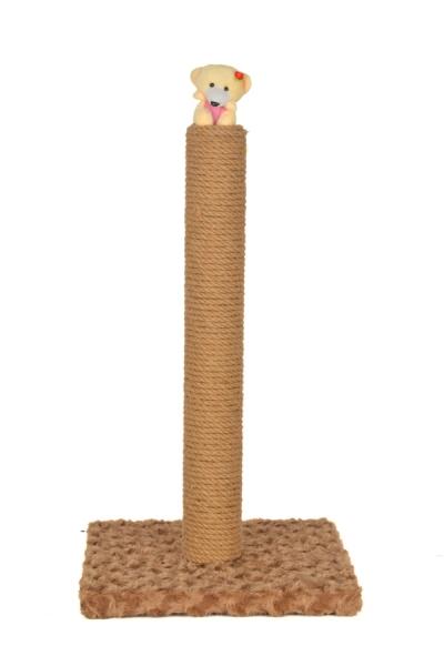 Pet Preety - İnce Oyuncaklı Tırmalama 50 cm Kahverengi