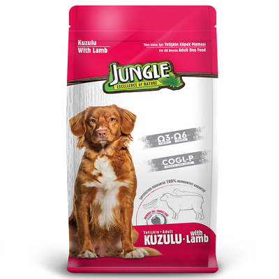Jungle - Jungle 15 kg Kuzu Etli Yetişkin Köpek Maması