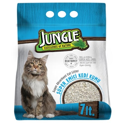 Jungle Diatomit Kedi Kumu 7 Lt. 6'lı Poşet