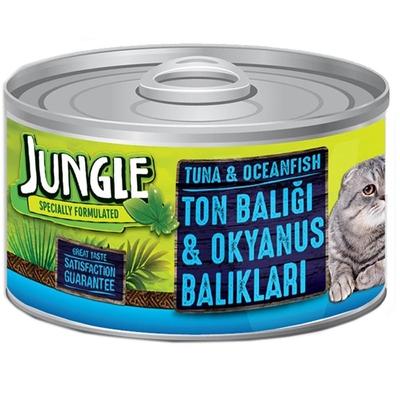 Jungle - Jungle Kedi 85 gr Ton-Okyanus Balı.Yaş Ezme 24 Ad.