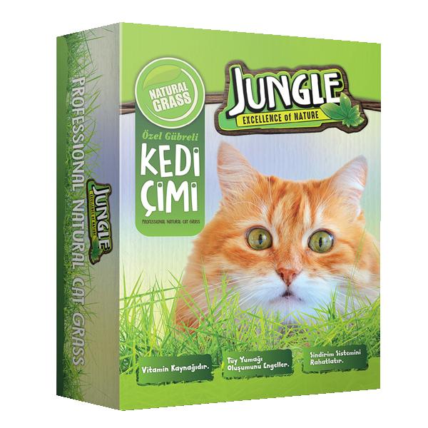 Jungle Kedi Çimi Kutulu (Fileli) 6'lı