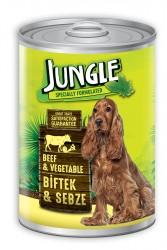 Jungle - Jungle Köpek 1230 gr Biftekli-Sebzeli Konserve