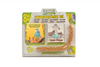 Jungle Muhabbet Kuşu İhtiyaç Seti 4'lü Paket.