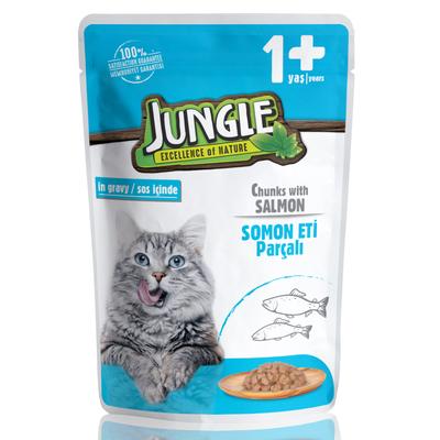Jungle - Jungle Kedi Somonlu 24 Adet 100 g Pouch