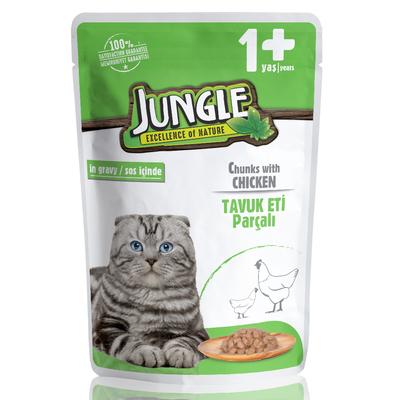 Jungle - Jungle Kedi Tavuklu 24 Adet 100 g Pouch