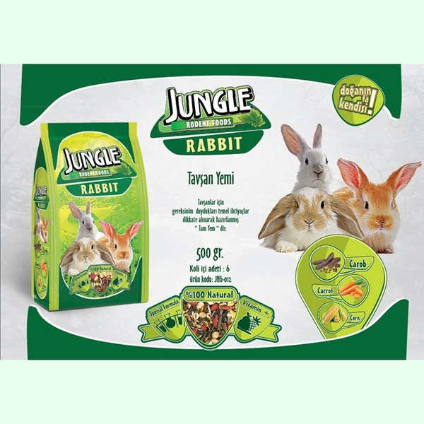 Jungle Tavşan Yemi 500 gr 6'lı.