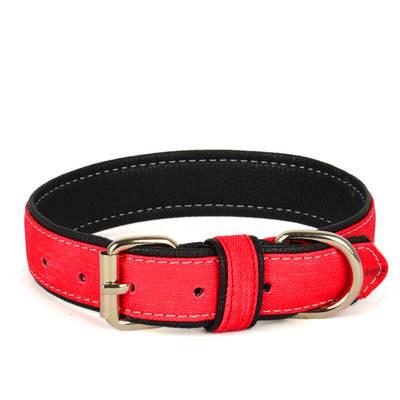Flip - Kanvas Yum.Doku Kırmızı 67 cm Köpek Boyun Tasması