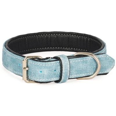 Flip - Kanvas Yum.Doku Mavi 48 cm Köpek Boyun Tasması