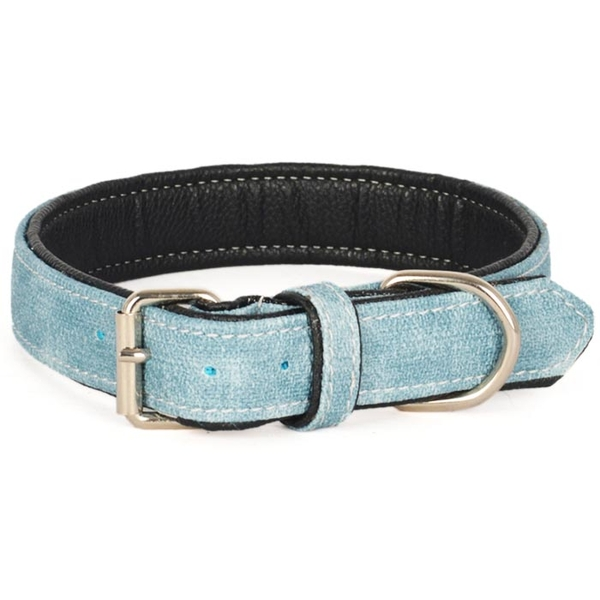 Kanvas Yum.Doku Mavi 54 cm Köpek Boyun Tasması
