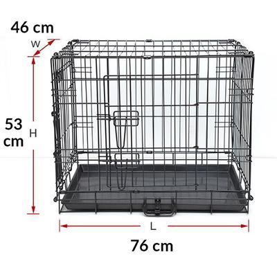 Flip - Katlanır Tel Köpek Kafesi M 76*46*53 cm