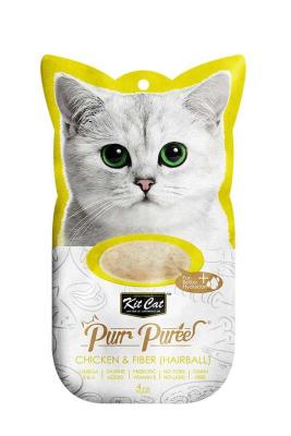 Kit Cat Purr KC-881 Tavuk Hairball Kedi Ödülü 4'lü