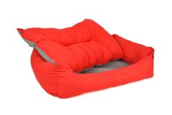 Pet Preety - Kumaş Yatak No:1 Kırmızı