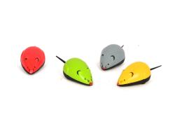 Pet Preety - Çekmeli Renkli Plastik Fare 28'li Kutu