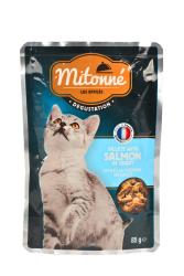 Mitonne 85 gr Kedi Fileto Pouch Somonlu 24 Adet - Thumbnail