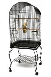 Fit Fly - P922 BLK Ayaklı Papağan Kafesi Siyah