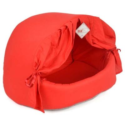 Pet Preety - Perdeli Kumaş Yuva Kırmızı
