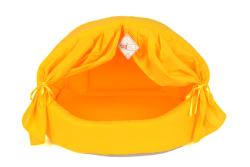 Pet Preety - Perdeli Kumaş Yuva Sarı