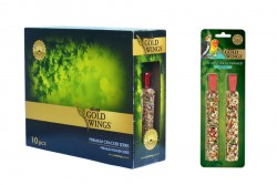 Gold Wings Premium - Premium Paraket 2'li Kraker Meyveli 10'lu