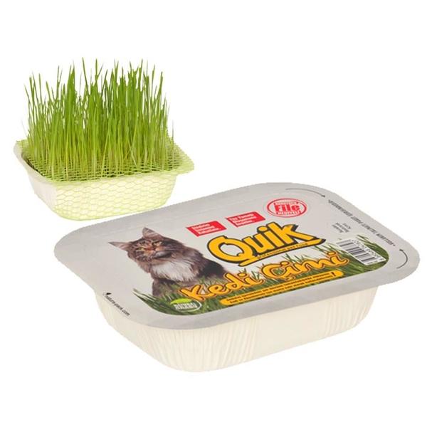 Quik Doğal Kedi Çimi (Fileli) - 12 Adet