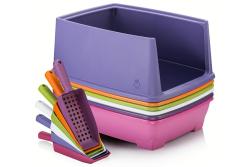 Şentürk Plastik - Relax Yarım Kapalı Kedi Tuvaleti + Küreği