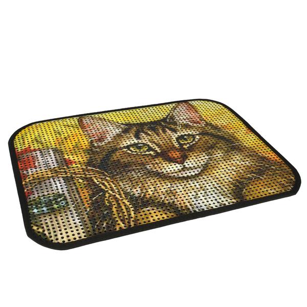 Resimli Lux Kedi Kumu Toplama Paspası 60*45 cm