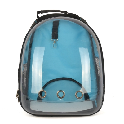 Dougesi - Şeffaf Kedi Köpek Sırt Çantası Mavi