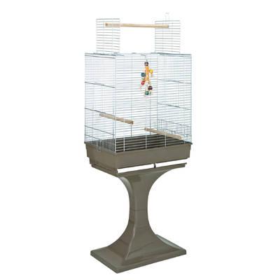 Mps - FOP Soraya Cromo Sehpalı Üst Açılır Papağan Kafesi 66x45x70+70 cm