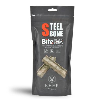 Steel Bone - Steel Bone Biftekli Köpek Ödülü 14 gr 16 Adet