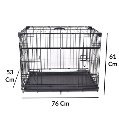 VA203-ELS1 Katlanır Köpek Kafesi 76Lx53Wx61H cm - Thumbnail