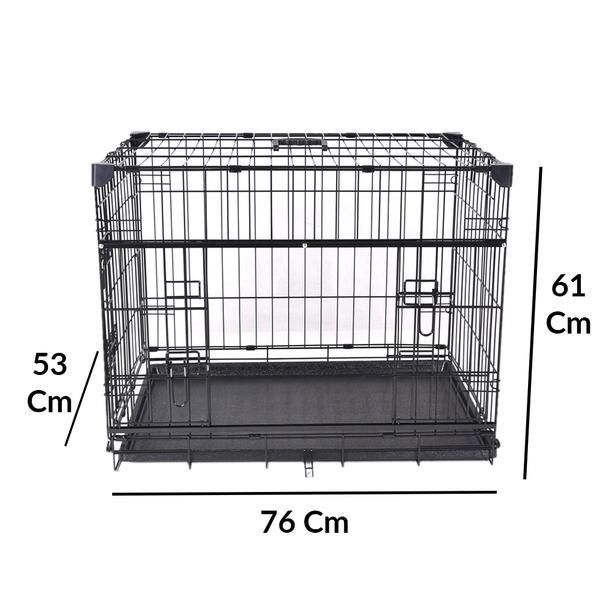 VA203-ELS1 Katlanır Köpek Kafesi 76Lx53Wx61H cm