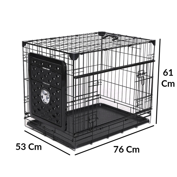 VA203-ELSW1 Katlanır Kapılı Köpek Kafes 76Lx53Wx61 H cm