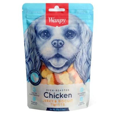 Wanpy - Wanpy Bisküvi Üzeri Tavuk Sargılı 100gr BA-04H Köpek Ödül