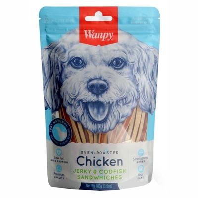Wanpy - Wanpy Tavuklu&Morina Balıklı 100 gr CC-01S Köpek Ödülü