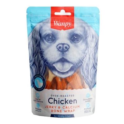 Wanpy - Wanpy Kalsiyumlu Gerçek Tavuk 100 gr CE-16H Köpek Ödülü
