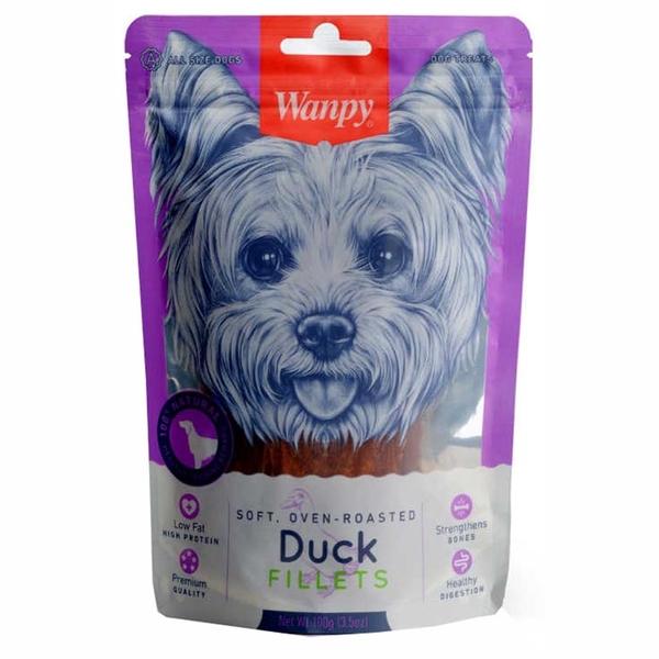 Wanpy Gerçek Ördek Fileto 100 gr DA-12S Köpek Ödülü
