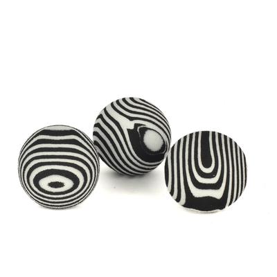 Flip - ZM4-4320 Kedi Oyun Topu Siyah Beyaz 3'lü